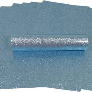 A4 Pale Blue Glitter Paper Soft Touch Non Shed 150gsm Pack of 10 Sheets