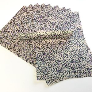 A4 Glitter Paper Lilac, Black and White Iridescent Decorative Pattern Sparkly Soft Touch Non Shed 100gsm 10 Sheets