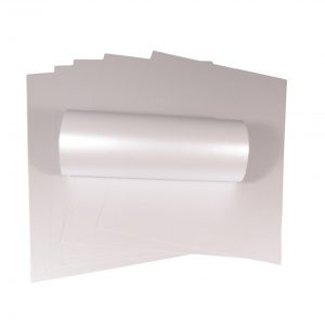 10 Sheets of A4 Ice Silver Pearlescent Double Sided Card 300gsm