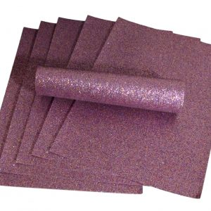 A4 Purple Iridescent Colour Mix Glitter Paper Soft Touch Non Shed 100gsm 10 Sheets