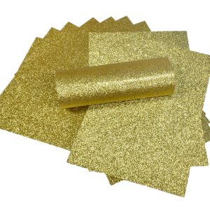 Gold Glitter Card A4 Sparkly Soft Touch Non Shed 250gsm Pack of 10 Sheets