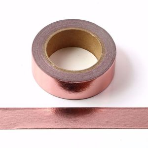 Rose Gold Foil Washi Tape Decorative Self Adhesive Tape 15mm x 10m