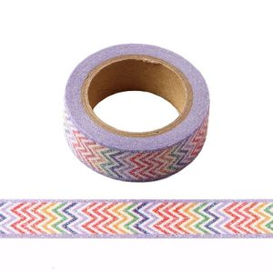 Colourful Multi Colour Rainbow Glitter Washi Tape