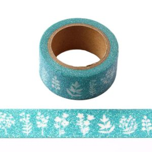 Dreamy Plants Christmas Glitter Washi Tape