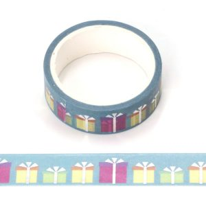 Gift Washi Tape Ideal For Christmas / Birthdays With Silver Foil