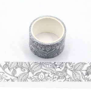2 Rolls Decorative Flower and leaves Colouring In Washi Tape