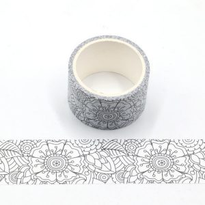 2 Rolls Decorative Floral Colouring In Washi Tape