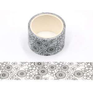 2 Rolls Decorative Flowers Colouring In Washi Tape