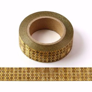 Gold Honeycomb Washi Tape Gold Sparkle Christmas Tape