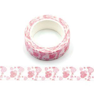 Sparkly Valentines Red and Pink Hearts Glitter Washi Tape