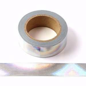 Holographic Colour Changing Silver Foil Washi Tape Decorative Self Adhesive Tape