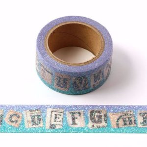 Glitter Sparkle Alphabet Washi Tape