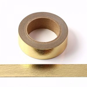 Gold Foil Washi Tape Decorative Self Adhesive Masking Tape 15mm x 10m