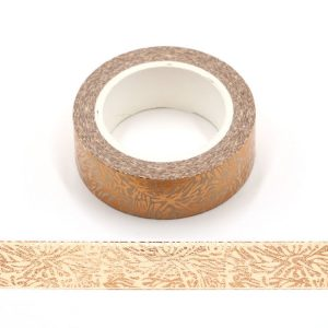 Snow Flower Gold Foil Washi Tape