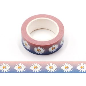 Silver Holographic Foil Daisy Flower Floral Washi Tape