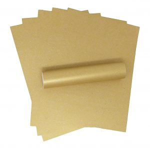10 Sheets A4 Harvest Gold Iridescent Sparkle Card Quality 300gsm
