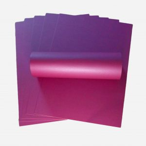 10 Sheets Wildberry Purple A4 Pearlescent Single Sided Card 300gsm