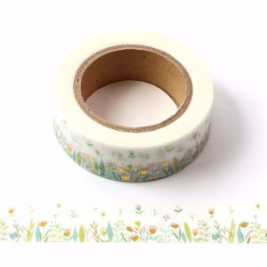 Wild Flower Spring Meadow Washi Tape Decorative Tape 15mm x 10m
