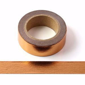 Copper Foil Washi Tape Decorative Self Adhesive Tape 15mm x 10m