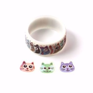 Many Kinds of Cats Washi Tape Stickers Roll 27mm x 100 Stickers
