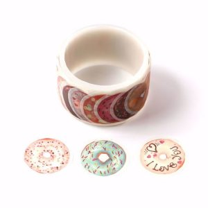 Many Kinds of Donuts / Doughnuts Washi Tape Stickers roll 27mm x 100 Stickers