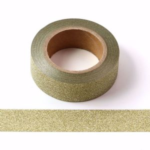 Light Gold Glitter Washi Tape Decorative Tape 15mm x 10m