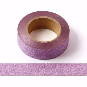 Light Purple / Lilac Glitter Washi Tape Decorative Tape 15mm x 10m