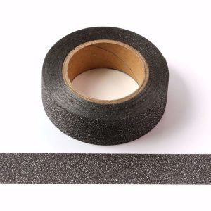 Black Glitter Washi Tape Decorative Tape 15mm x 10m