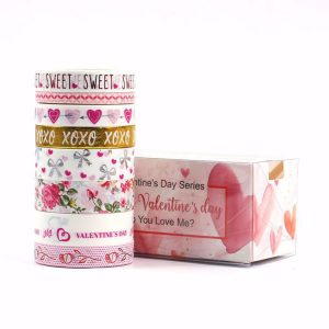 8 Rolls Washi Tape Set Valentine's Day Love Hearts Washi