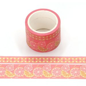 Pack of 2 Fragrance Orange Scented Washi Tape 4.5m
