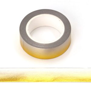 Gold and Silver Foil Gradient Decorative Washi Tape 15mm x 10m