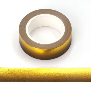 Gold and Black Foil Gradient Decorative Washi Tape 15mm x 10m