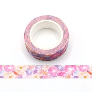 Blooming Flowers Floral Decorative Washi Tape 15mm x 5m