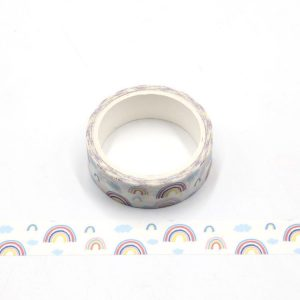 Pastel Rainbow Colours Washi Tape 15mm and 5 Meters