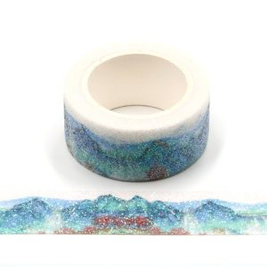 Chinoiserie Glitter Sparkle Decorative Non Shed Washi Tape 20mm x 3m