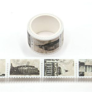 Famous Land Marks Architecture Postage Stamp Washi Tape 25mm x 3m