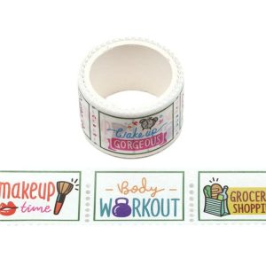 Daily Schedule / Planner Postage Stamp Washi Tape 25mm x 3m