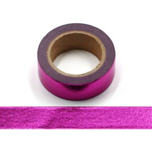 Purple Foil Washi Tape Decorative Self Adhesive Tape 15mm x 10m