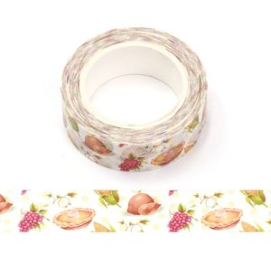 Thanksgiving Colourful Food Washi Tape 15mm x 10 Meters