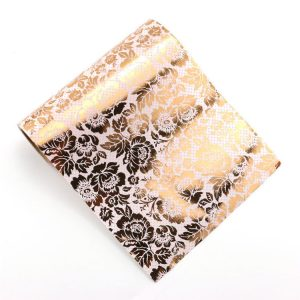 White and Rose Gold Foil Floral Flower Wrapping Paper 305mm Wide x 5 Meters