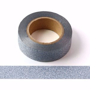 Light Blue Glitter Washi Tape Decorative Tape 15mm x 10m