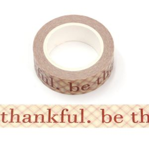 Be Thankful Decorative Washi Tape 15mm x 10m