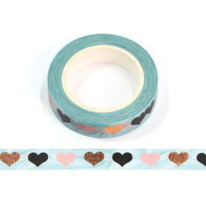 Colourful Love Hearts Washi Tape 10mm x 10m