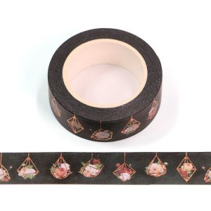 Hanging Basket Flower Decorative Washi Tape 15mm x 10m