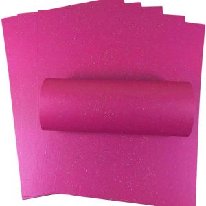 10 Sheets Fuchsia Pink Iridescent Sparkle A4 Paper 120gsm