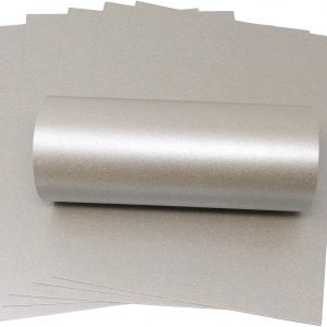 10 Sheets Mercury Silver Iridescent Sparkle A4 Paper 120gsm
