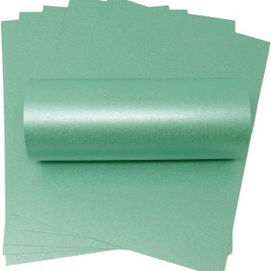 10 Sheets Sea Blue Iridescent Sparkle A4 Paper 120gsm