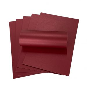 10 Sheets of A4 Royal Red Pearlescent Double Sided Card 300gsm