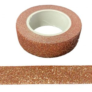 Dark Rose Gold Glitter Washi Tape Decorative Masking Self Adhesive