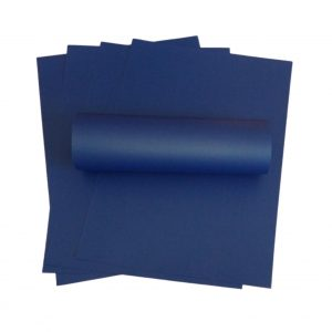 10 Sheets of A4 Royal Blue Pearlised Paper 100gsm
